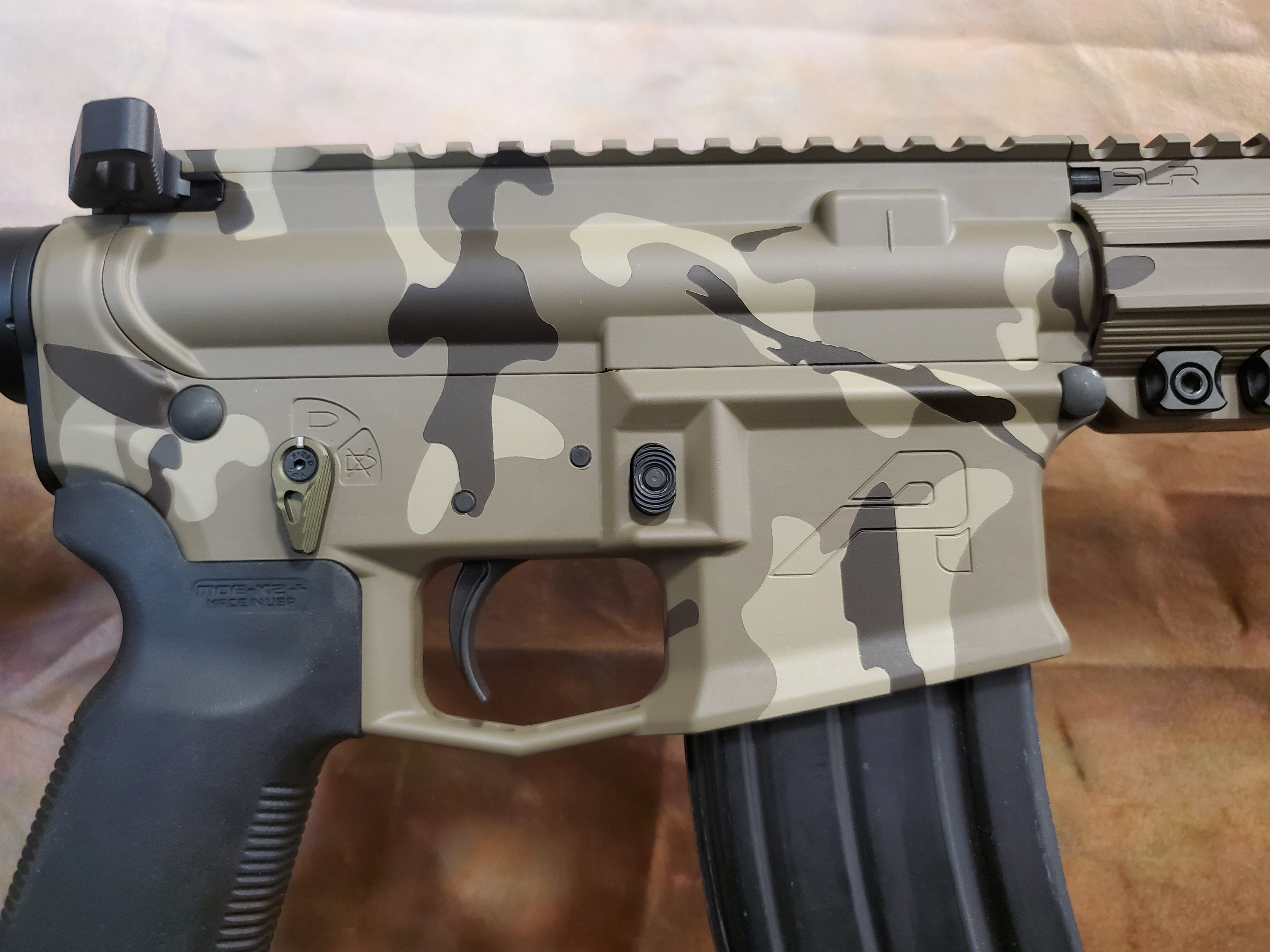 Custom Camo Cerakote AR15