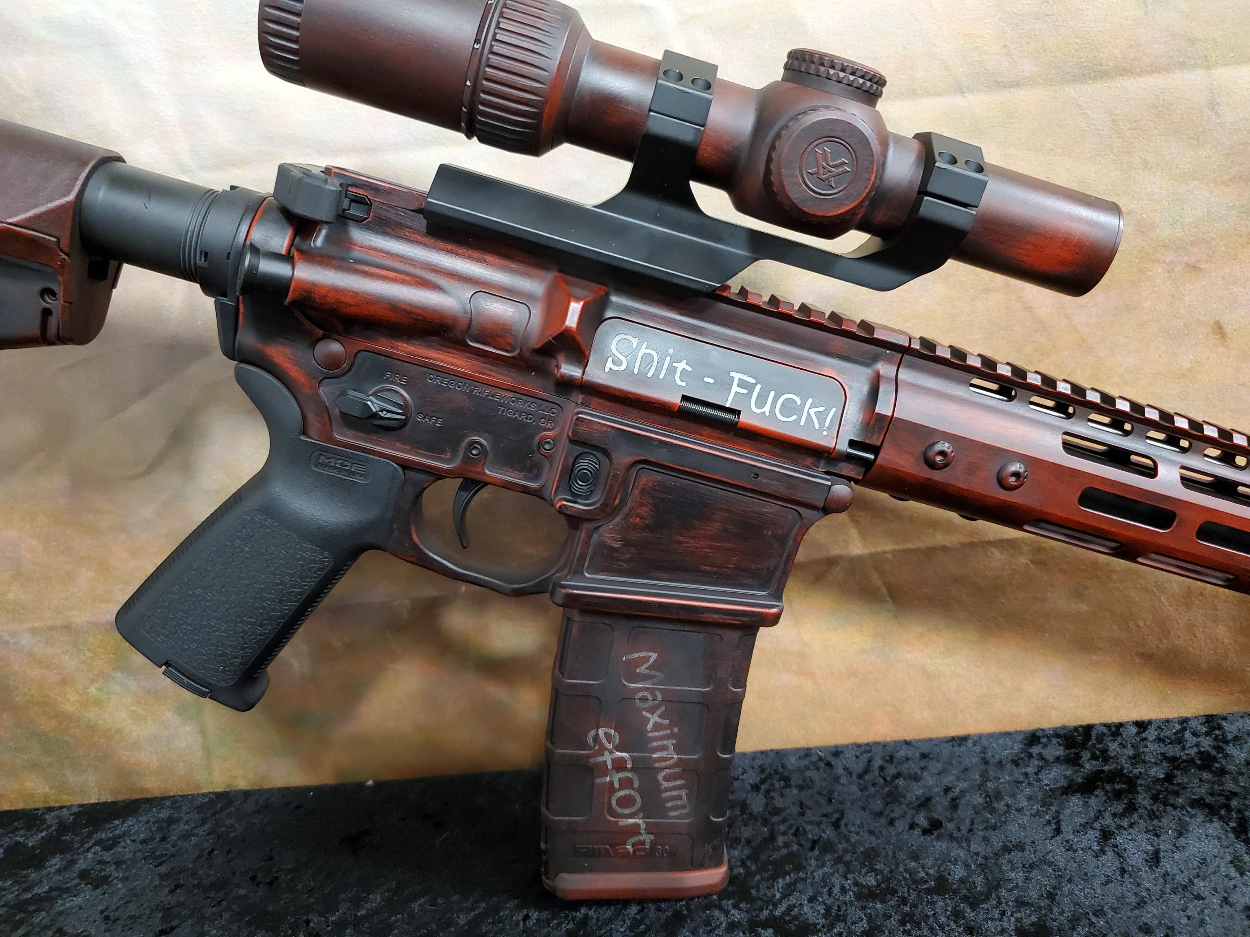 DeadPool AR15 Cerakote