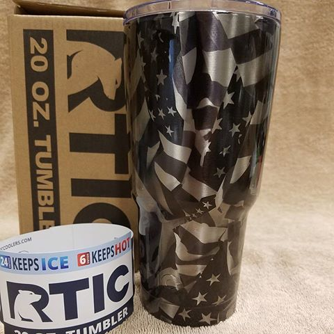 20oz Midnight America Stainless
