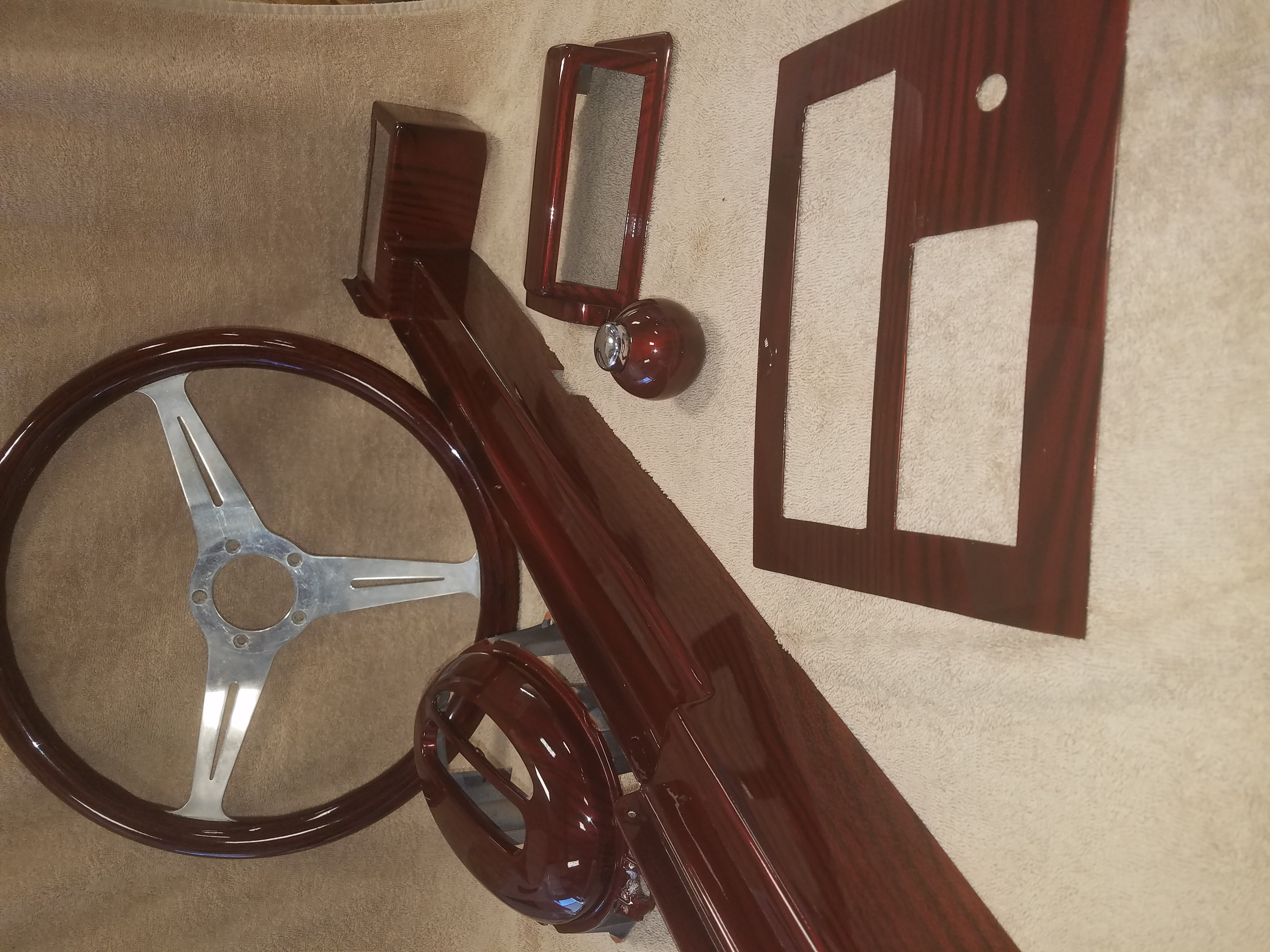 Red Oak Custom Truck Interior