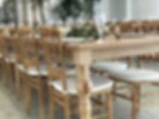 バンケット ナポレオンチェア アンティークテーブル