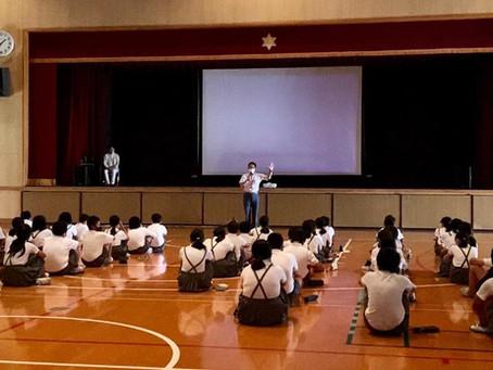 コロナ禍での念願の学校上映 in 大阪市立日本橋小中学校