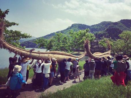世界最古の舟、葦舟を作るお祭りで!