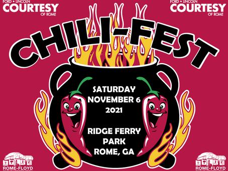 Chili-Fest Comes to Ridge Ferry Nov. 6