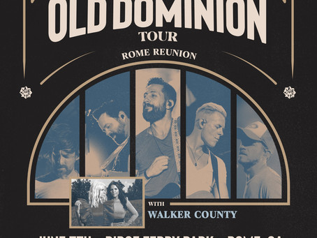 Old Dominion Returns to Rome on June 5