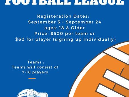New Adult Flag Football League