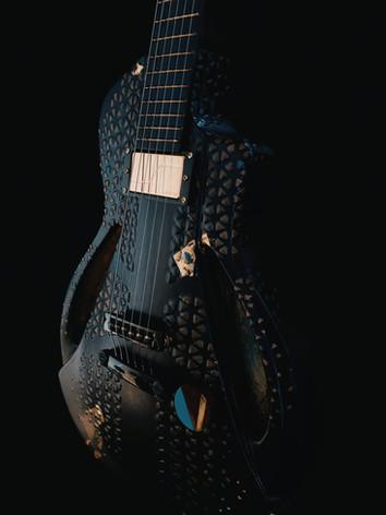 Honfleur semi hollow guitar overall view