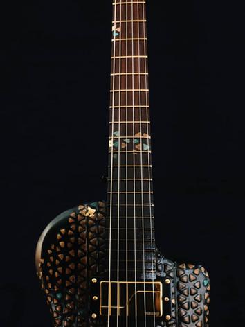 Honfleur semi hollow guitar fingerboard