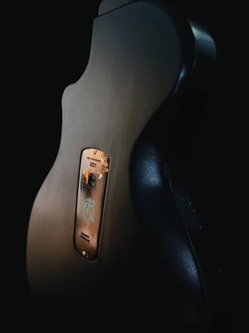 Honfleur semi hollow guitar back