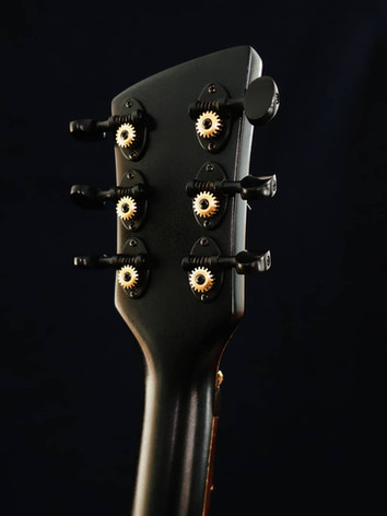 Honfleur semi hollow guitar headstock back