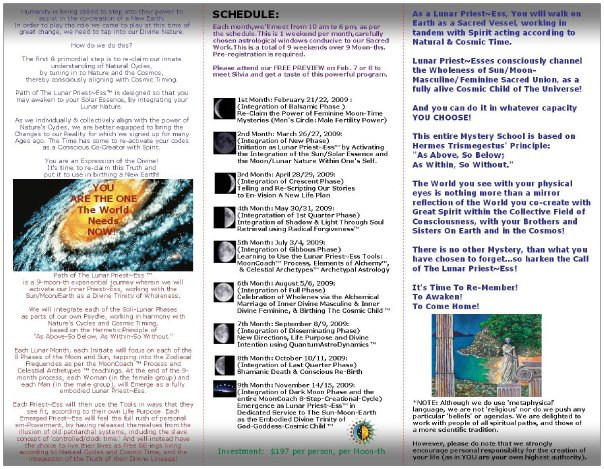 path of the lunar priestess brochure ins