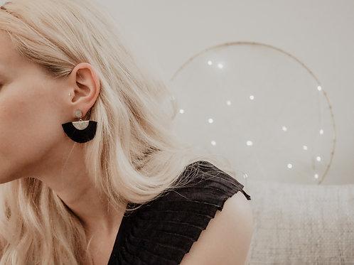 Ohrhänger Silber-Schwarz