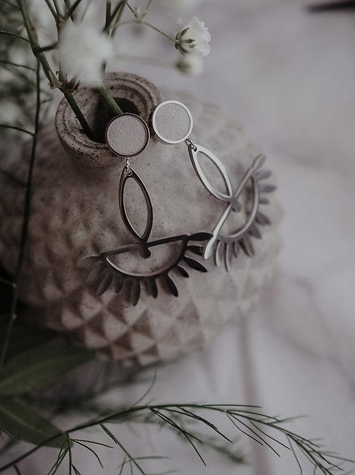 Ohrstecker mit Anhänger in Silber