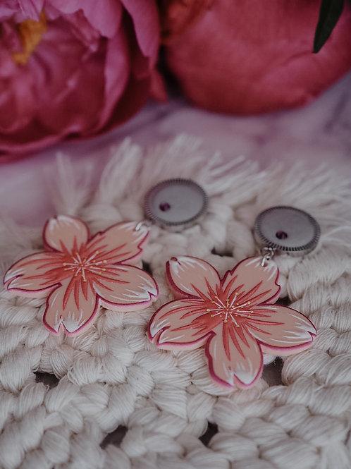 """Ohrstecker """"pink flower"""""""