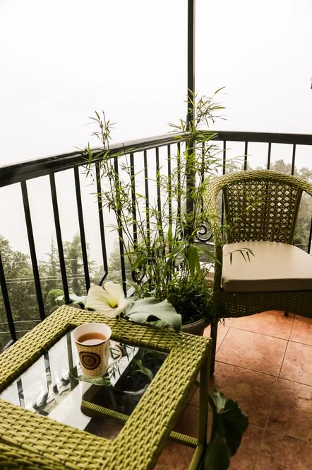Balcony outside ARUM