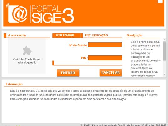 Portal SIGE 3 - Com novas funcionalidades