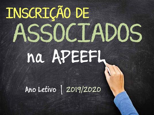Inscrição de Associados da APEEFL - 2019/2020