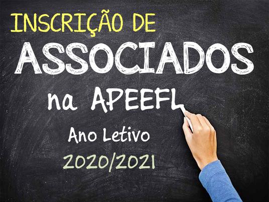 Inscrição de Associados da APEEFL - 2020/2021