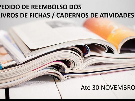 Pedido de Reembolso dos livros de fichas e caderno de atividades