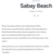 Sabay Beach Lonely Planet