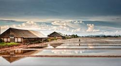 Salt fields in Kampot