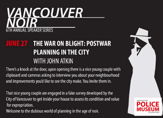 2018 Speaker Series John Atkin The Vancouver Police Museum