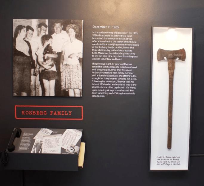 Kosberg Murders Axe Vancouver Police Museum