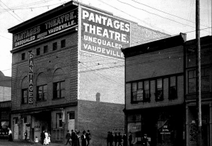 The Pantages Theatre at 150 East Hastings in Vancouver. It was renamed the Avon Theatre many years later.