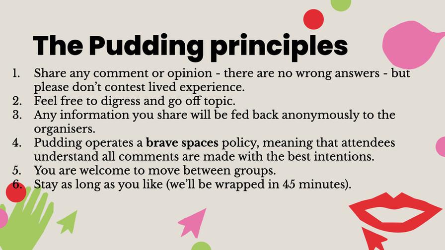 The Pudding Principles
