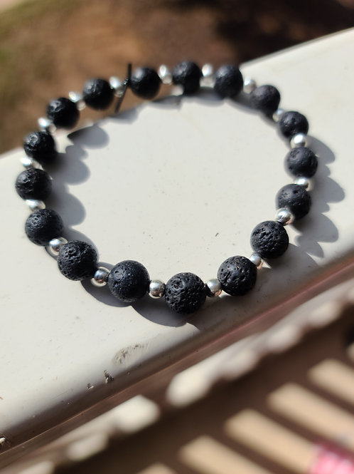 Simple Handmade Lava Bracelet