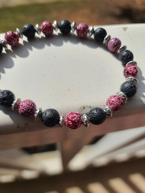 Handmade Maroon Fever Bracelet