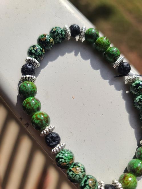 Handmade Green Fever Bracelet