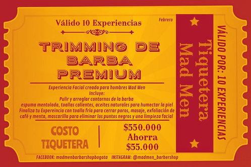 Tiquetera Arreglo de Barba Premium