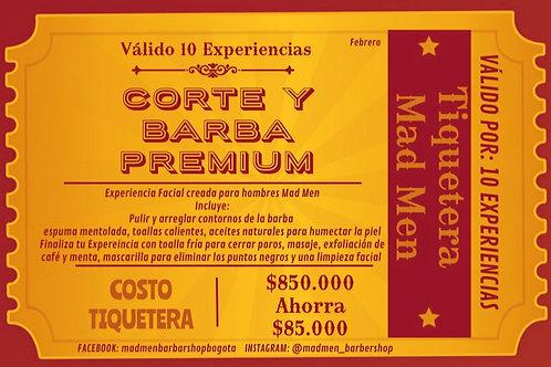 Tiquetera (Corte + Arreglo de Barba) Premium