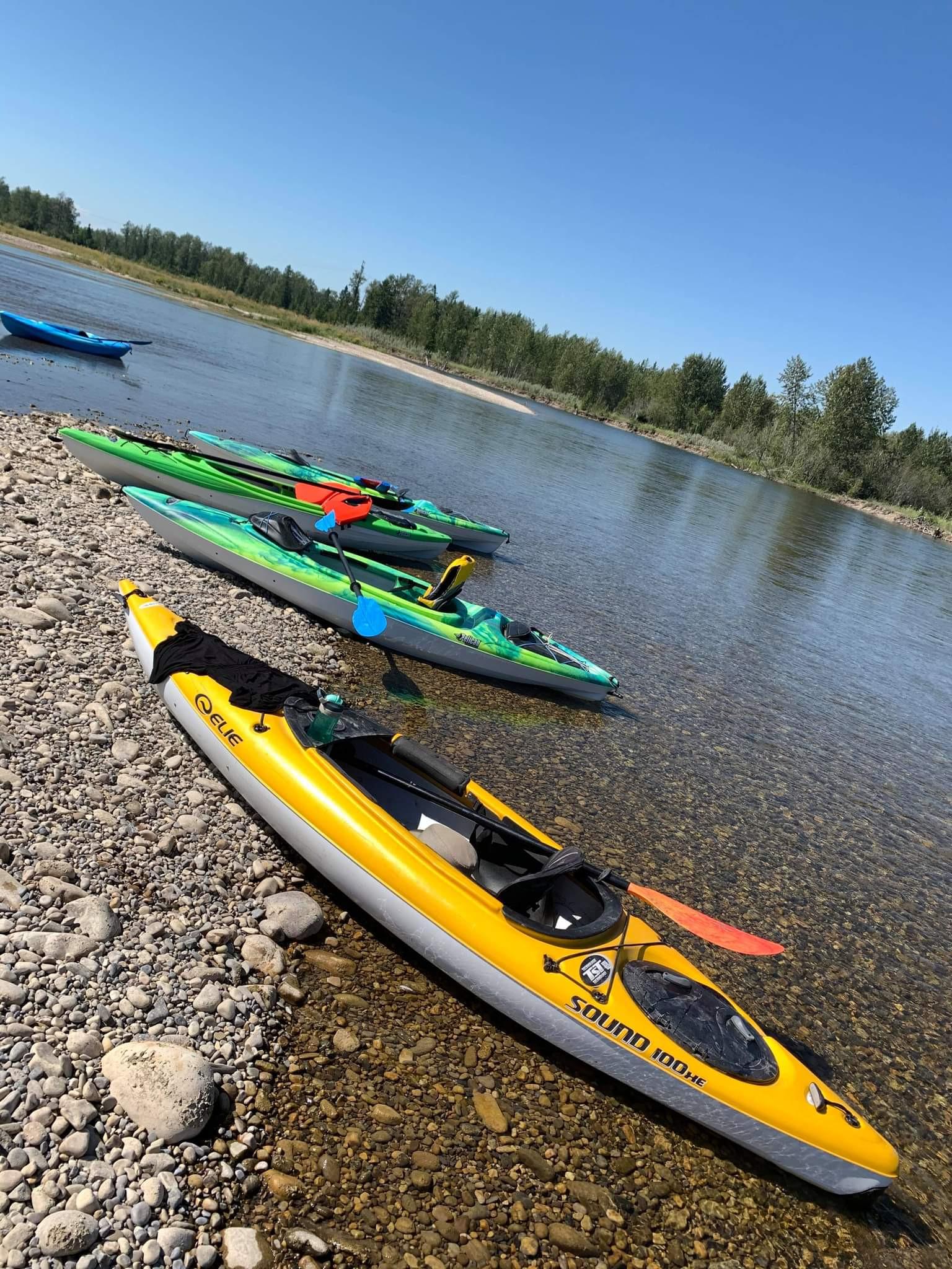 Red Deer River Group Kayak