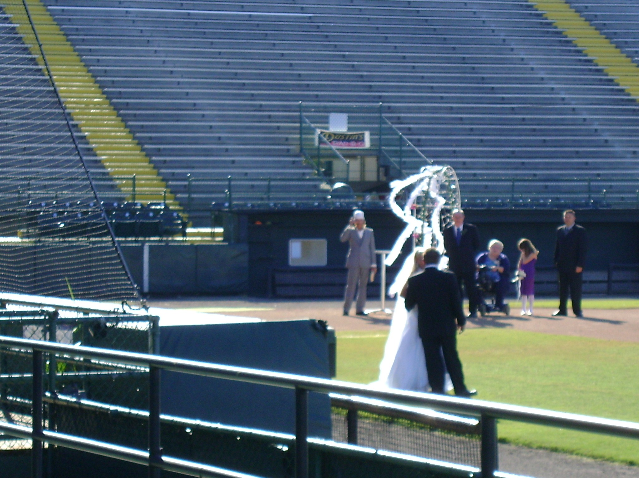 Ball Park Wedding