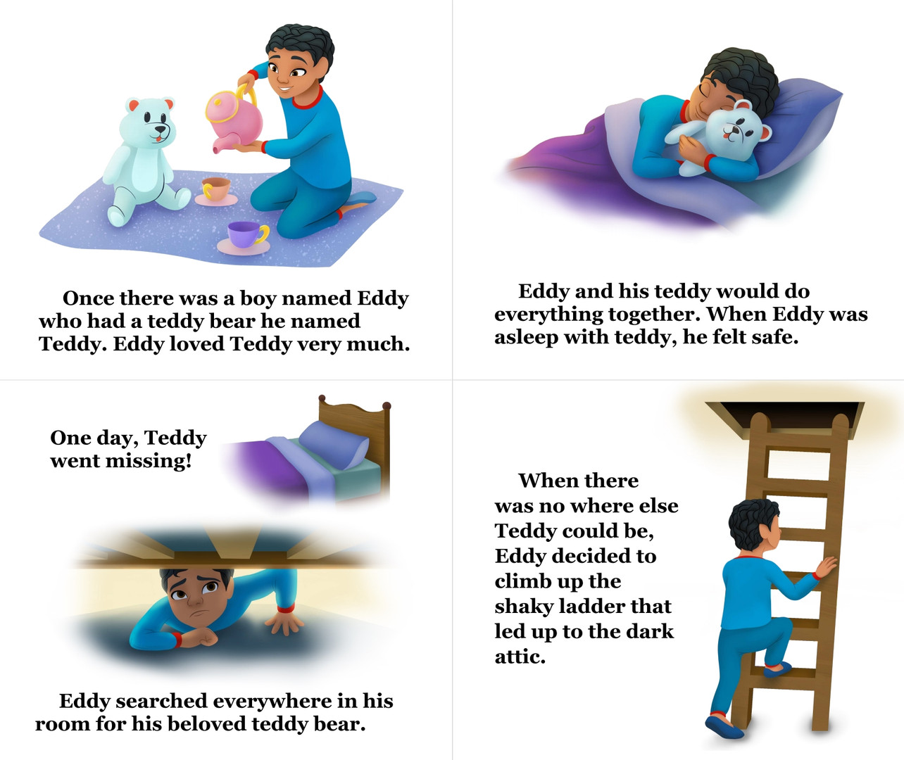 Eddy and his Teddy pg 4-7