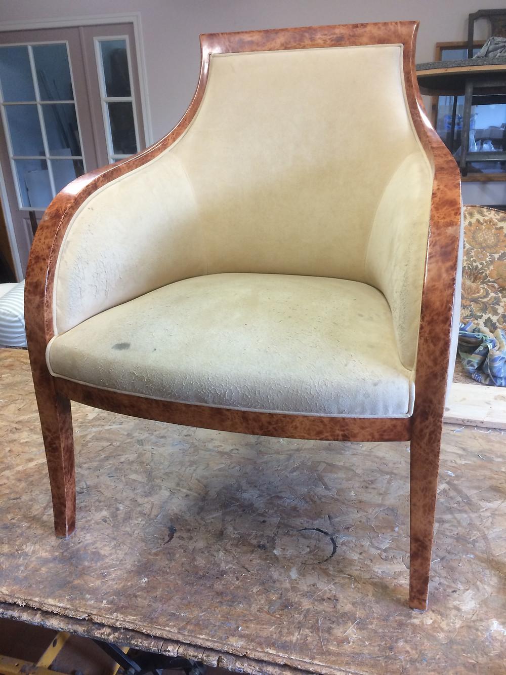 fauteuil bergère avant restauration