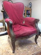 fauteuil avant restauration
