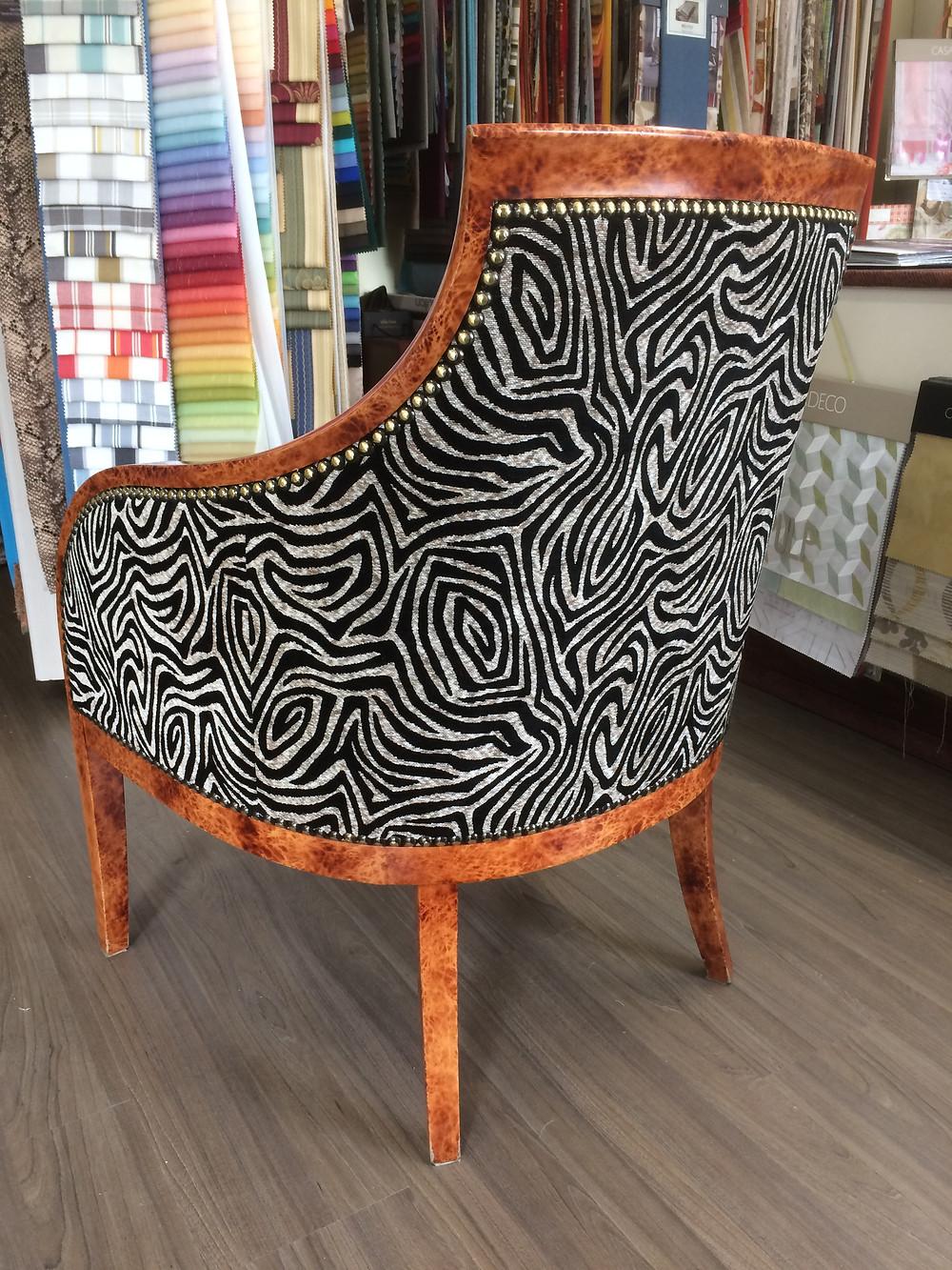 restauration fauteuil bergere hotel royal emeraude dinard tissu deschemaker