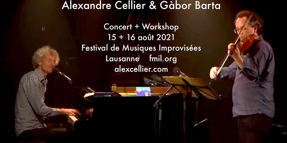 Alexandre Cellier & Gàbor Barta 15.8 concert + 16.8 workshop d'impro)