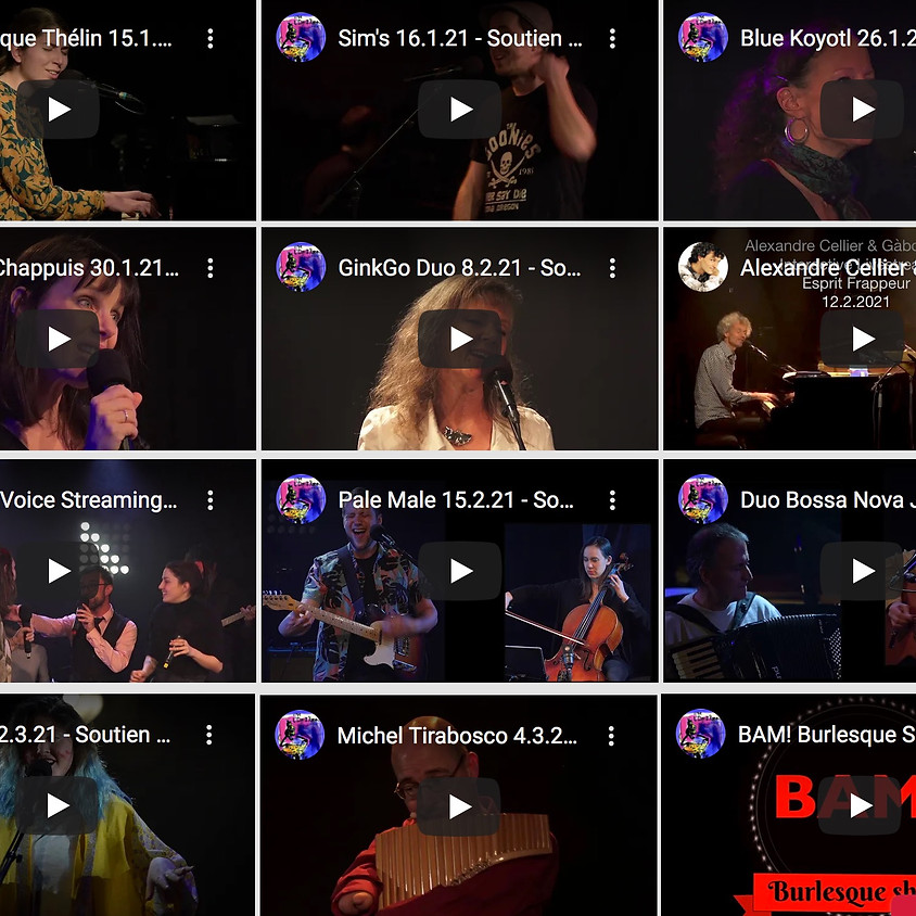 Concerts en ligne accès libre soutien aux artistes de Suisse romande à l'Esprit Frappeur