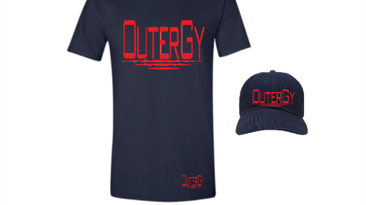 OuterGy Navy Blue Hat and shirt Set