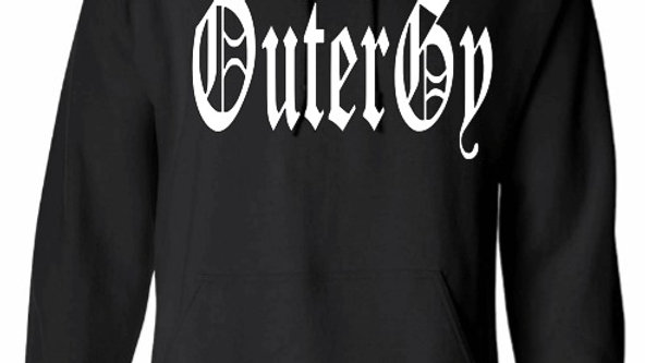 Black Old English OutergyHoodie