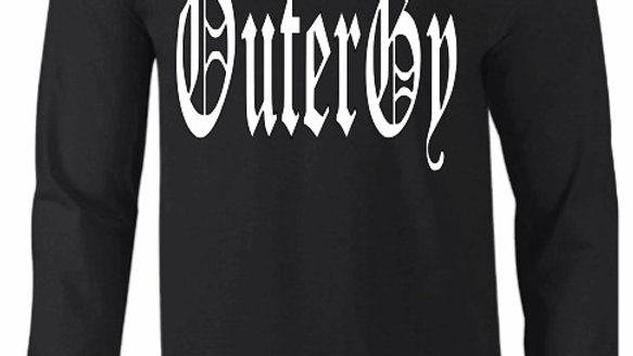 Black Long Sleeve Old English Tshirt