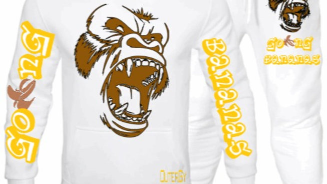 White Gorilla Going Bananas Outergy Set