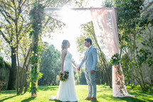 Garden Wedding Ceremony by Lisbon Weddin
