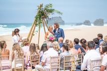 wedding ceremony at beach-lisbon wedding