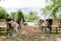 Garden ceremony by lisbon wedding celebr