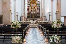 Church ceremony by lisbon wedding celebr